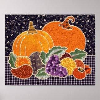 Citrouille de thanksgiving et patchwork d'amis