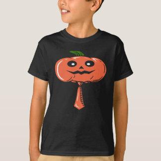 Citrouille Emoji avec la cravate - T-shirt de