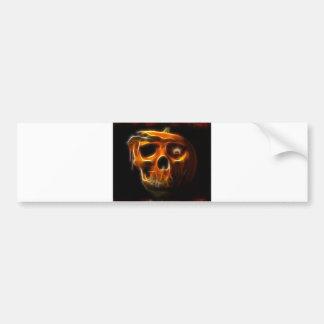 Citrouille frais de la mort de Halloween Autocollant De Voiture