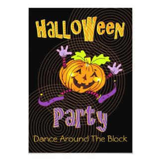Citrouille heureux de partie de bloc de Halloween Carton D'invitation 12,7 Cm X 17,78 Cm