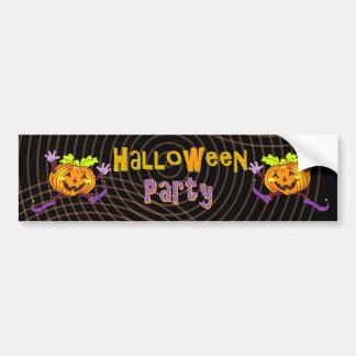 Citrouille heureux de partie de Halloween Autocollant De Voiture