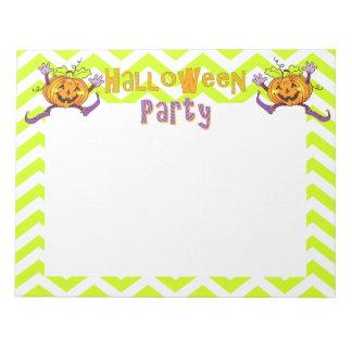 Citrouille heureux de partie de Halloween Blocs-notes Mémo