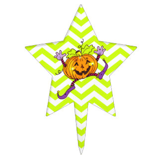 Citrouille heureux de partie de Halloween Étiquette À Gâteau