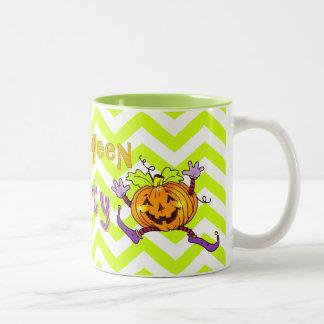 Citrouille heureux de partie de Halloween Mug Bicolore