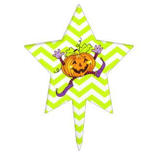Citrouille heureux de partie de Halloween Piques À Gâteau