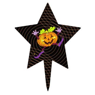 Citrouille heureux de partie de Halloween Pique À Gâteau
