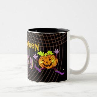 Citrouille heureux de partie de Halloween Tasse À Café