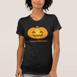 Citrouille mignon avec le texte heureux de t-shirts