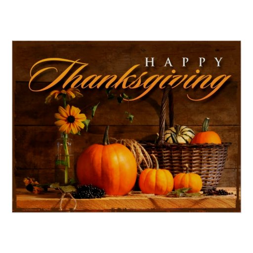 Citrouille mignon de thanksgiving affiche