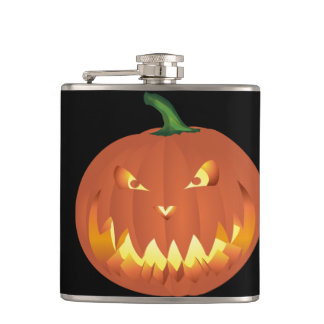 Citrouille pour Halloween ... Hip Flask