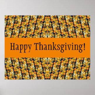 Citrouilles, courge, et courges - bon thanksgiving poster