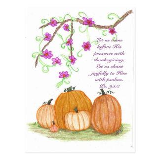 Citrouilles de thanksgiving cartes postales