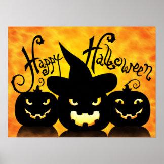 Citrouilles effrayants de Halloween Poster