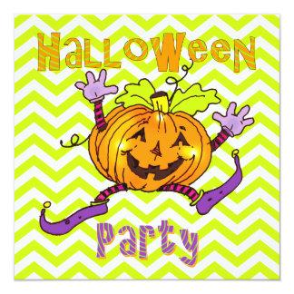 Citrouilles heureux de partie de Halloween Carton D'invitation 13,33 Cm