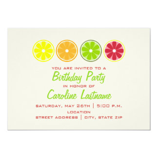 Citrus Birthday Party Invitation