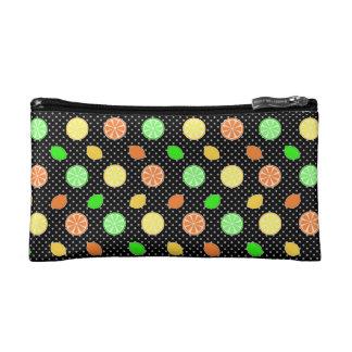 Citrus Bliss in Black Makeup Bag