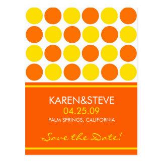 Citrus Colored Save the Dates Postcard
