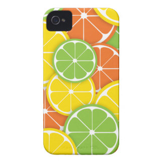 Citrus crush juicy round lemon lime orange slices iPhone 4 Case-Mate case