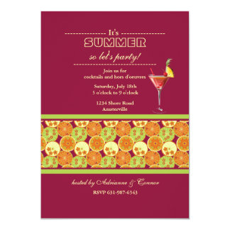 Citrus Delight Invitation