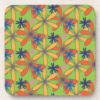Citrus floral coaster