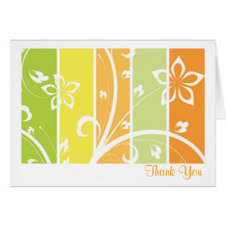 Citrus Floral Thank You cards