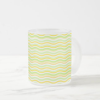 Citrus Frosted Glass Coffee Mug