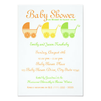 Citrus Fruit Baby Shower Card