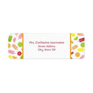 Citrus Fruit Ice Pop Address Label