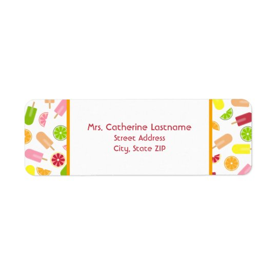 Citrus Fruit Ice Pop Address Label