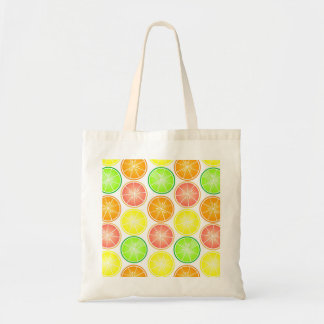 Citrus Fruit Print - Lemon Lime Orange Grapefruit Tote Bag