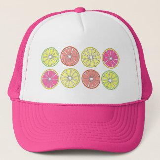 Citrus Fruit Slice Orange Lemon Lime Grapefruit Trucker Hat
