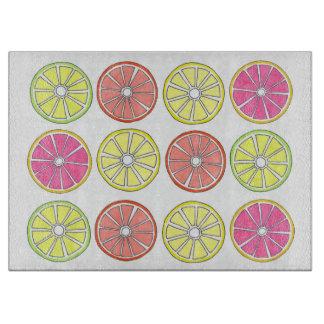 Citrus Fruit Slices Grapefruit Lemon Lime Orange Cutting Board