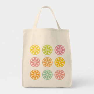 Citrus Fruit Slices Grocery Tote Bag