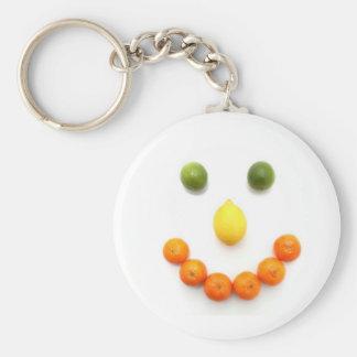 Citrus Fruit Smiley Smile Keychain
