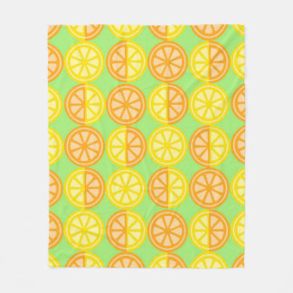 Citrus Fruits Fleece Blanket