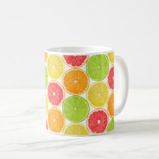 Citrus fruits pattern coffee mug