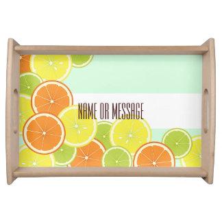 Citrus Fruits Pattern Cute Modern Summer Custom Serving Tray