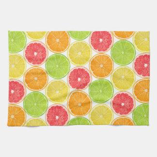 Citrus fruits pattern kitchen towel