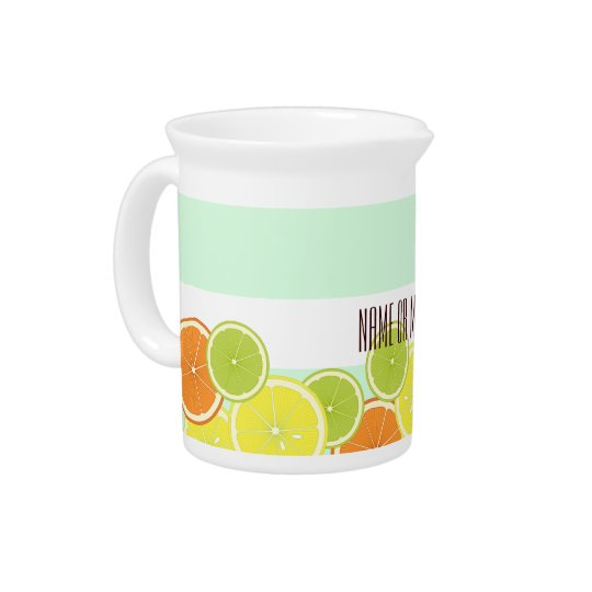 Citrus Fruits Summer Cute Modern Personalized Beverage Pitchers