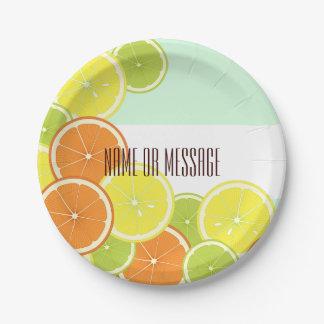 Citrus Fruits Summer Cute Modern Summer Party Paper Plate