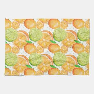 Citrus Fruits Watercolor Kitchen Towel