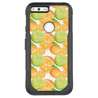 Citrus Fruits Watercolor OtterBox Commuter Google Pixel XL Case