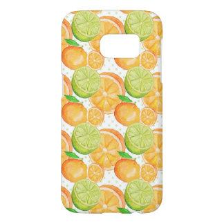 Citrus Fruits Watercolor Samsung Galaxy S7 Case