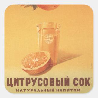 Citrus Juice Square Sticker