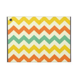 Citrus Lime Green Orange Yellow Chevron Zigzags iPad Mini Cover