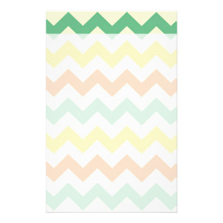 Citrus Lime Green Orange Yellow Chevron Zigzags Stationery
