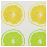 Citrus Lime, Orange, and Lemon Polka Dot Slices Fabric