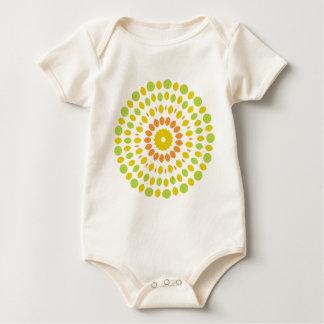 Citrus Mandala Baby Bodysuit