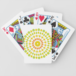 Citrus Mandala Bicycle Playing Cards