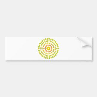 Citrus Mandala Bumper Sticker